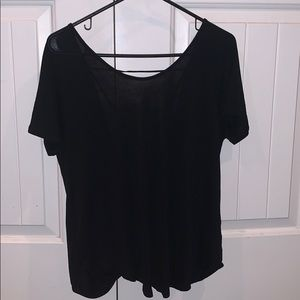 Black t shirt with low back